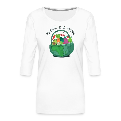 Mi cesta de compra - Camiseta premium de manga 3/4 para mujer