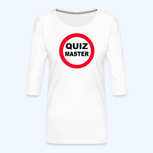 Quiz Master Stop Sign - Women's Premium 3/4-Sleeve T-Shirt