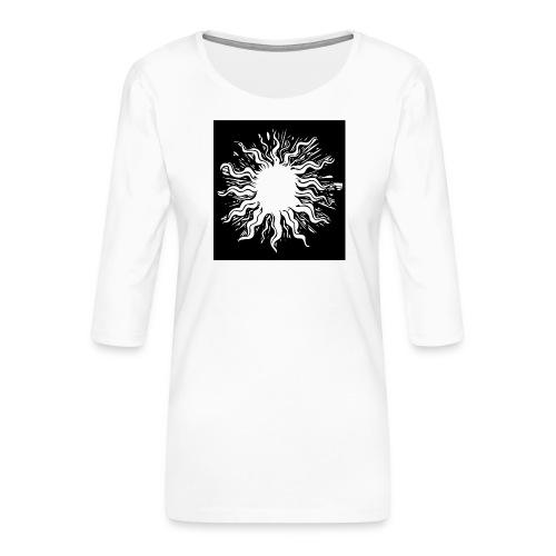 sun1 png - Women's Premium 3/4-Sleeve T-Shirt