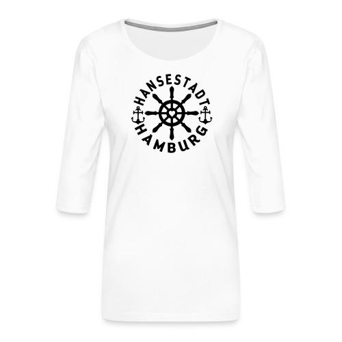 Hamburger Steuerrad - Frauen Premium 3/4-Arm Shirt