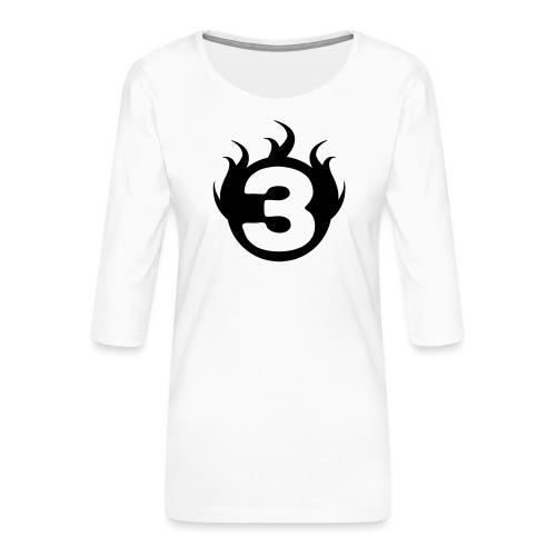 shoulder logoc - T-shirt Premium manches 3/4 Femme