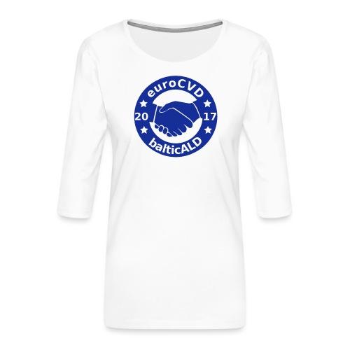 Joint EuroCVD - BalticALD conference mens t-shirt - Women's Premium 3/4-Sleeve T-Shirt