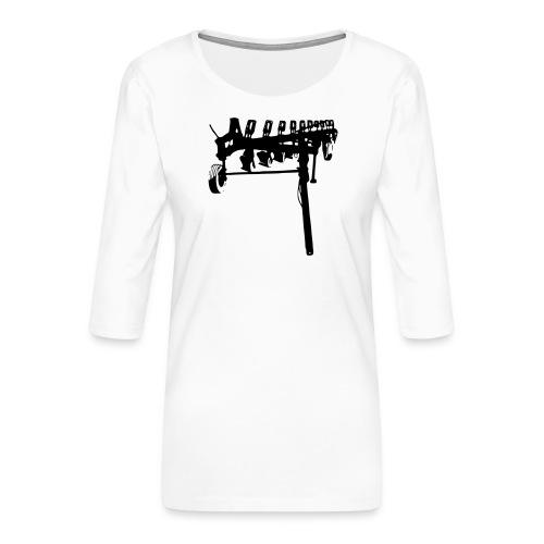 trailed plow - Women's Premium 3/4-Sleeve T-Shirt