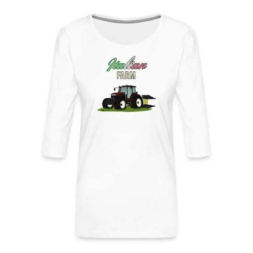 Italian Farm official T-SHIRT - Maglietta da donna premium con manica a 3/4