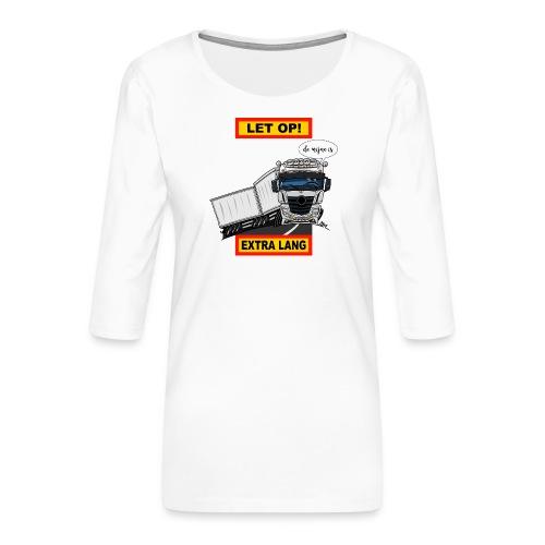 0850 extra lang - Vrouwen premium shirt 3/4-mouw