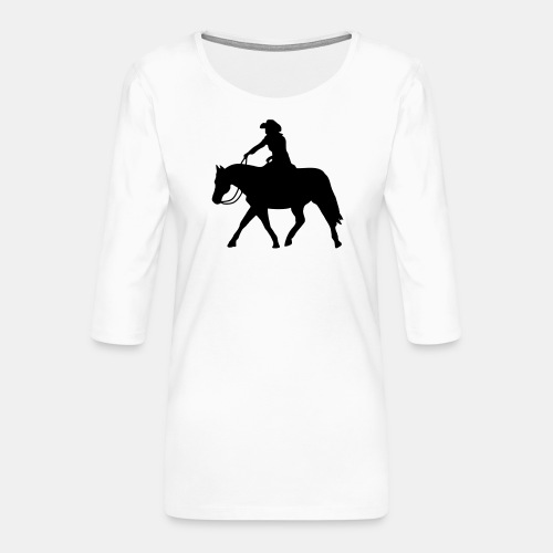 Ranch Riding extendet Trot - Frauen Premium 3/4-Arm Shirt
