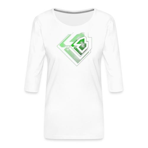 BRANDSHIRT LOGO GANGGREEN - Vrouwen premium shirt 3/4-mouw