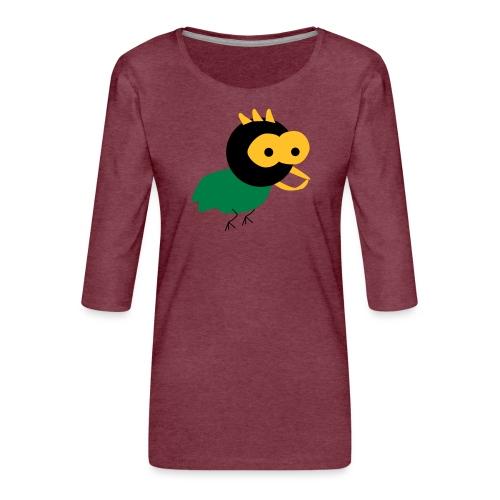 lintu-eps - Naisten premium 3/4-hihainen paita