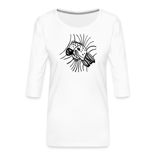 pesce1 - Maglietta da donna premium con manica a 3/4