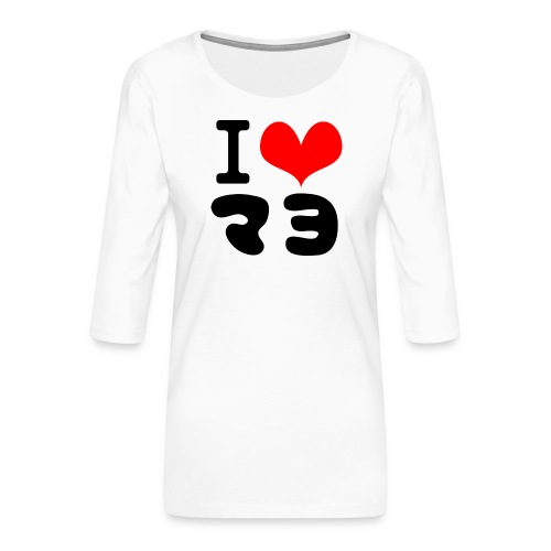 I Love MAYO(J) - Women's Premium 3/4-Sleeve T-Shirt