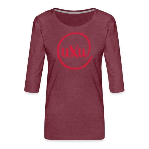 UXU logo round - Women's Premium 3/4-Sleeve T-Shirt