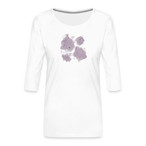 Violet splash chinchilla 2 - Naisten premium 3/4-hihainen paita