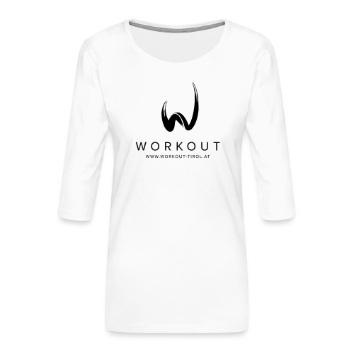 Workout mit Url - Frauen Premium 3/4-Arm Shirt