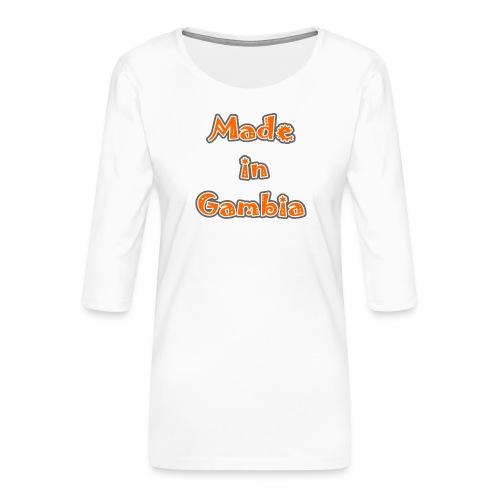 Made in Gambia - Women's Premium 3/4-Sleeve T-Shirt