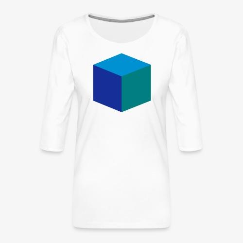 Cube - Premium T-skjorte med 3/4 erme for kvinner