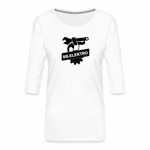 SB transp 1000 png - Dame Premium shirt med 3/4-ærmer