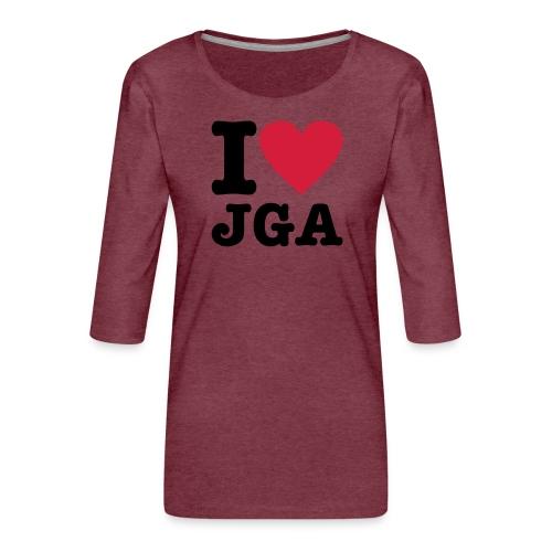 I love JGA - Frauen Premium 3/4-Arm Shirt