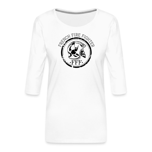 fff - T-shirt Premium manches 3/4 Femme