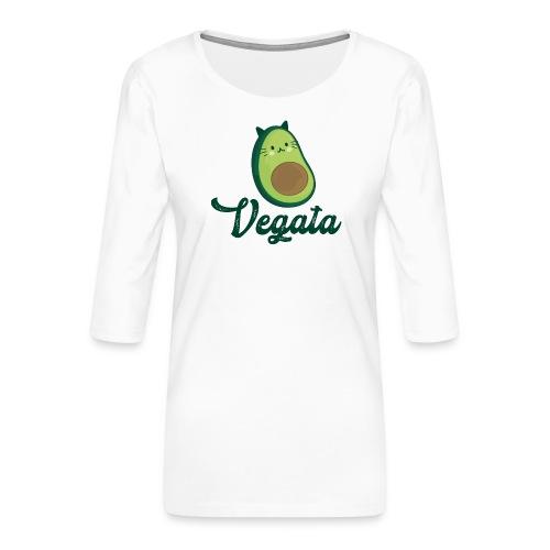 Vegata - Camiseta premium de manga 3/4 para mujer