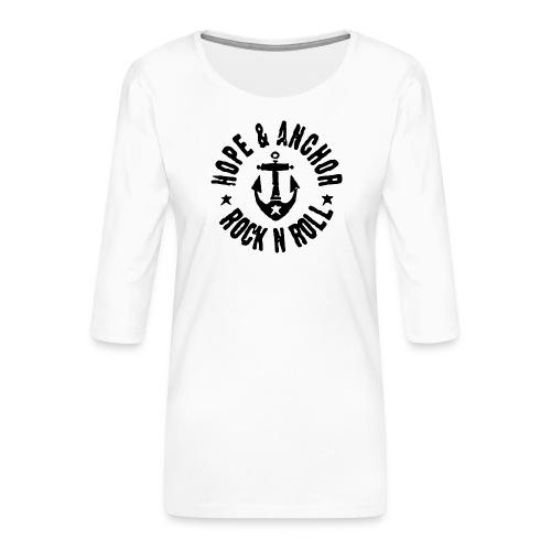 Hope & Anchor - Rock´n´Roll - Frauen Premium 3/4-Arm Shirt