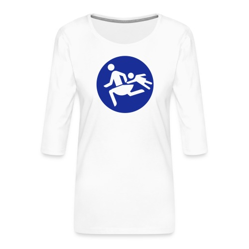 Running Mamas - Frauen Premium 3/4-Arm Shirt