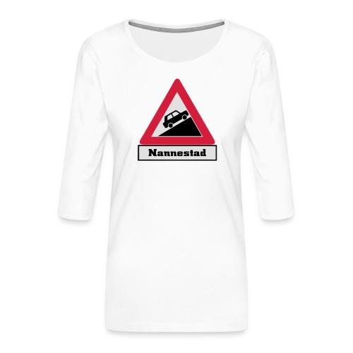 brattv nannestad a png - Premium T-skjorte med 3/4 erme for kvinner