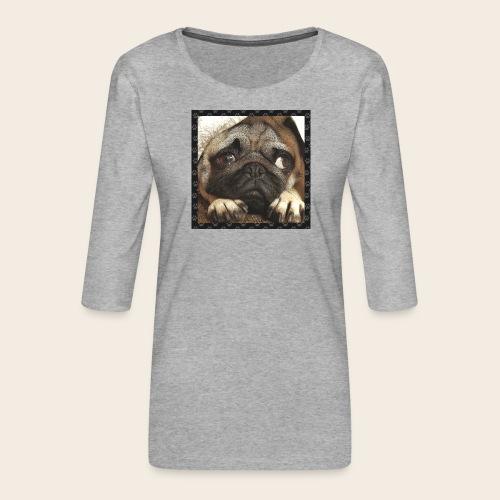 Mops Hund 1 - Frauen Premium 3/4-Arm Shirt