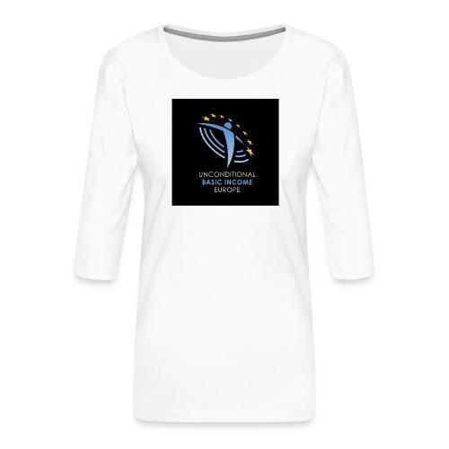 02 ubie on black centered square jpg - Vrouwen premium shirt 3/4-mouw