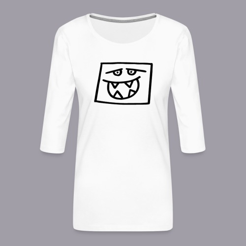 quadra_hungrig - Frauen Premium 3/4-Arm Shirt