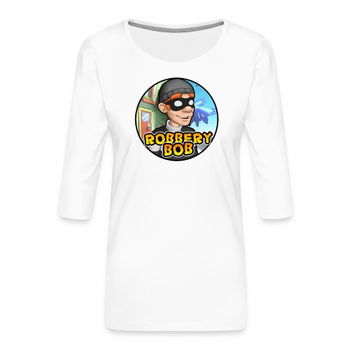 Robbery Bob Button - Women's Premium 3/4-Sleeve T-Shirt