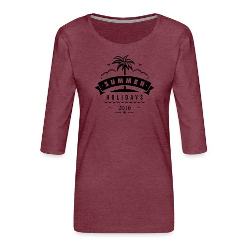 summer holidays palm - Naisten premium 3/4-hihainen paita
