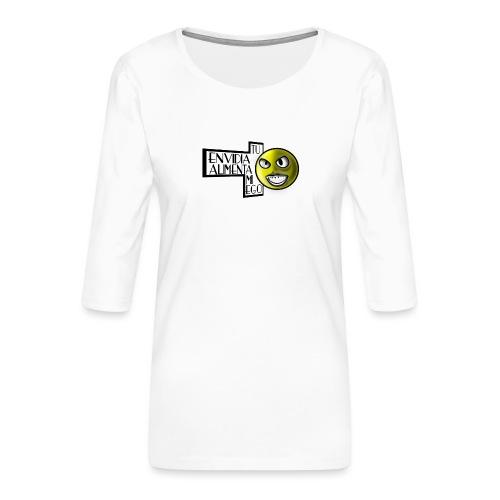 Ego - Camiseta premium de manga 3/4 para mujer