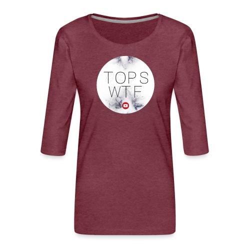 Official TOPS WTF T-Shirt - Women's Premium 3/4-Sleeve T-Shirt