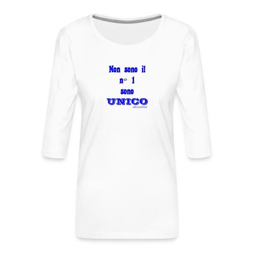 Unico #FRASIMTIME - Maglietta da donna premium con manica a 3/4