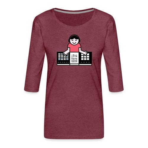 Ableto DJ - Vrouwen premium shirt 3/4-mouw