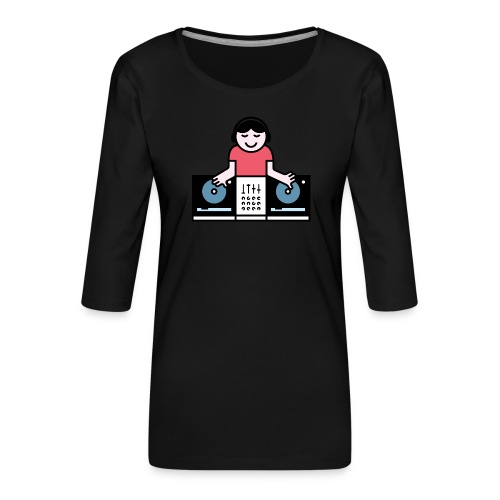 CDJ DJ - Vrouwen premium shirt 3/4-mouw