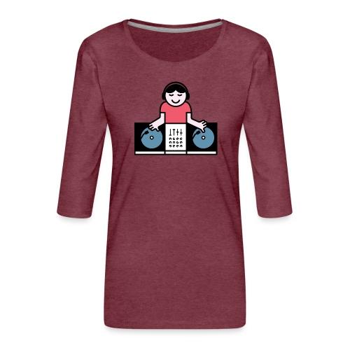 Vinyl DJ - Vrouwen premium shirt 3/4-mouw
