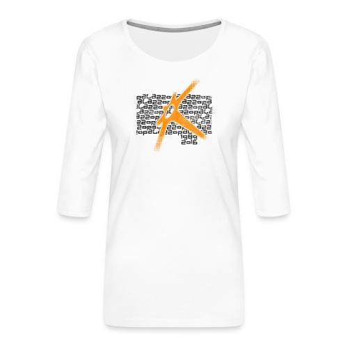 Palazzo Textblock auf weiss/on white - Frauen Premium 3/4-Arm Shirt