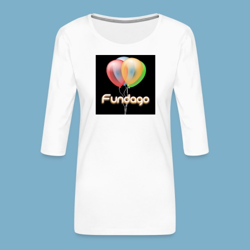 Fundago Ballon - Frauen Premium 3/4-Arm Shirt
