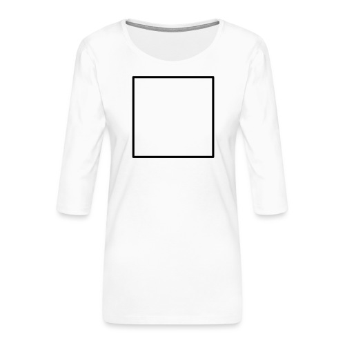 Square t shirt black - Vrouwen premium shirt 3/4-mouw
