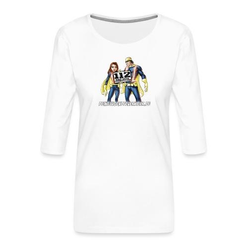 Superhelden & Logo - Frauen Premium 3/4-Arm Shirt