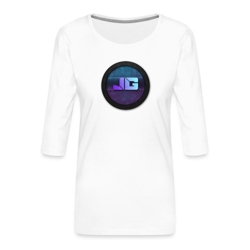 Pet met Logo - Vrouwen premium shirt 3/4-mouw