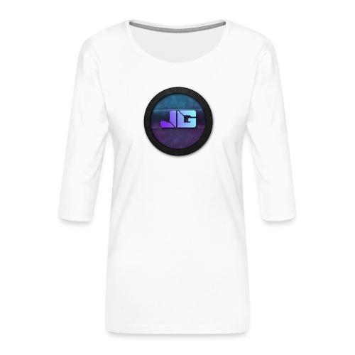Trui met logo - Vrouwen premium shirt 3/4-mouw