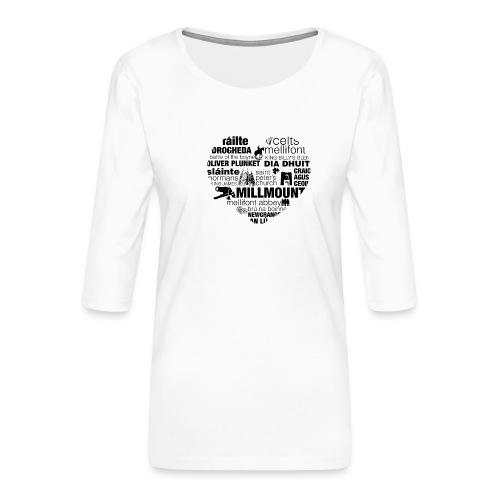 Legend_-_Drogheda2 - Women's Premium 3/4-Sleeve T-Shirt