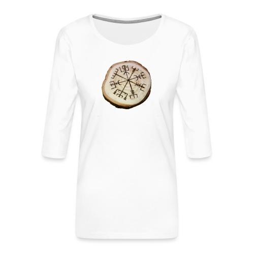 VHEH - Vegvísir - Women's Premium 3/4-Sleeve T-Shirt