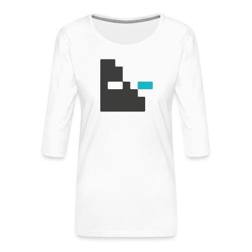 Mortu Logo - Vrouwen premium shirt 3/4-mouw