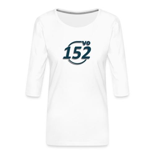 152VO Klassenzeichen petrol ohne Text - Frauen Premium 3/4-Arm Shirt
