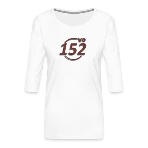 152VO Klassenzeichen mahogany ohne Text - Frauen Premium 3/4-Arm Shirt