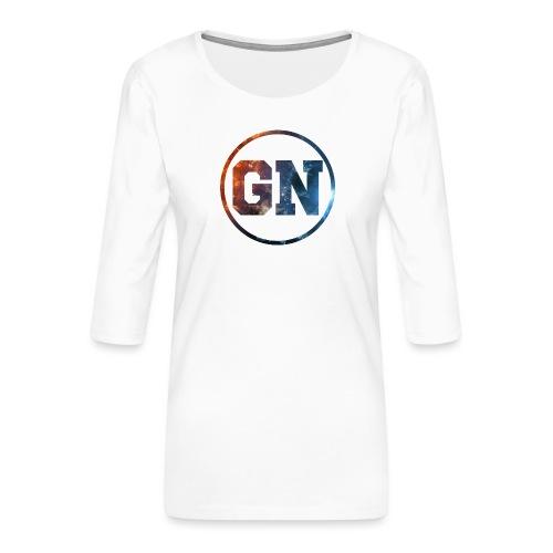 GainsNation galaxy - Premium-T-shirt med 3/4-ärm dam