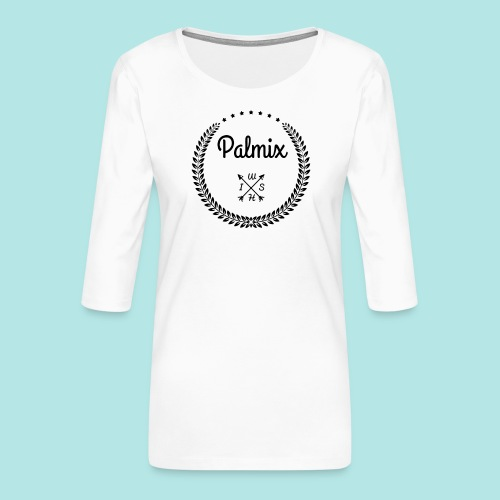 Palmix_wish V-neck - Women's Premium 3/4-Sleeve T-Shirt